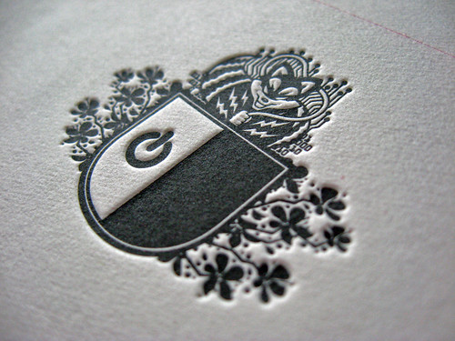Letterpress Christmas Party Invites