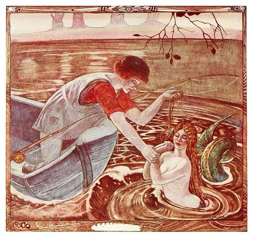 003-El buen barquero rescata a la sirena-Polish fairy tales 1920-Cecile Walton