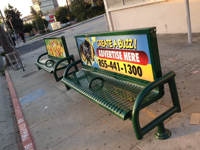 New bus benches for LA to replace the crappy plastic ones!