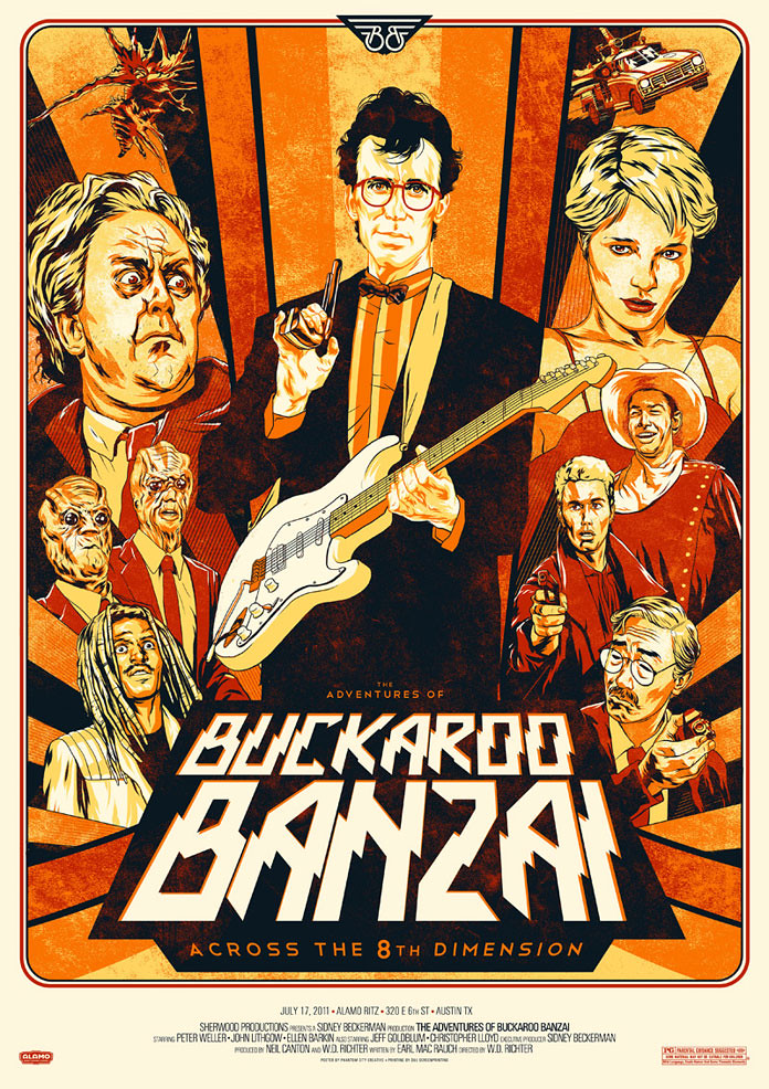 Buckaroo Banzai Poster by Phantom City Creative
