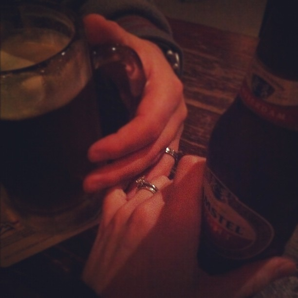 Grabbing a beer + watching the grizz game #hands #febphotoaday #day3