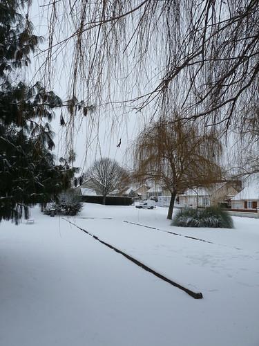 Boulodrome sous la neige.