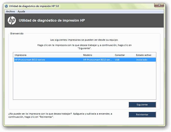 utilidad de diagnóstico de impresión HP