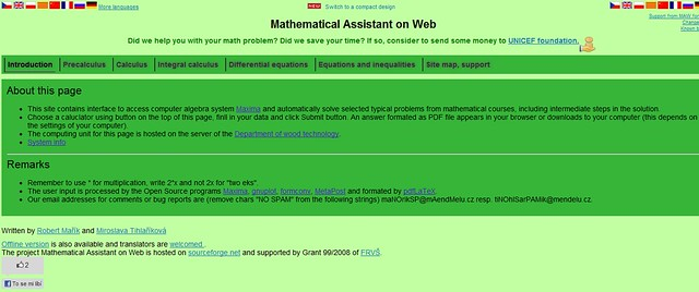 Mathematical Assistant on Web, magnífica aplicación sobre cálculo en una y dos variables