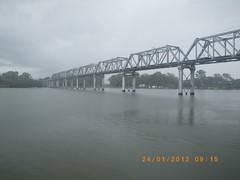View of Railway Bridge from the fishing Pontoon, Bundaberg