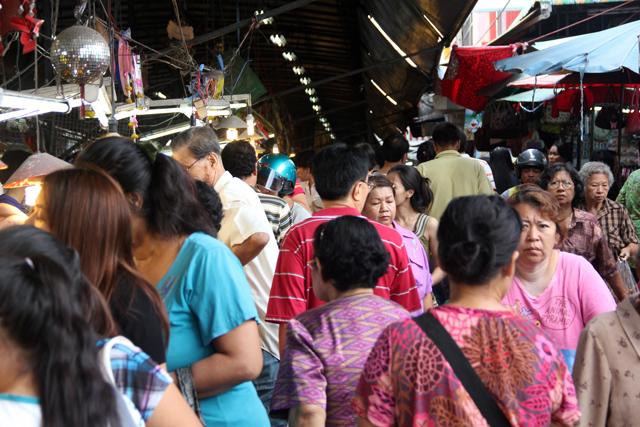 Busy Samrong Market