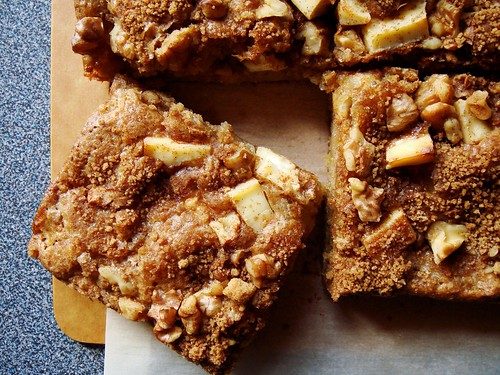 Apple Rye Blondie with Cream Cheese & Walnut: A Square