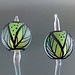 Earring pair : Spring leaves