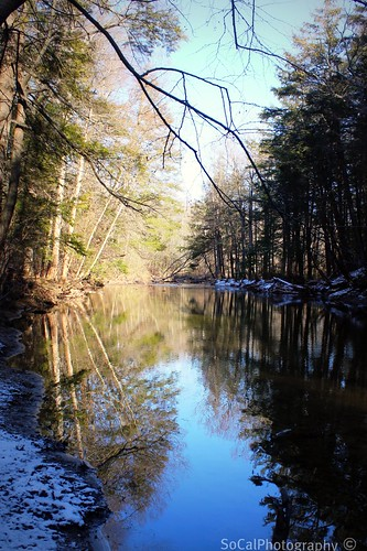 jacobsburg park nazareth pennsylvania pa nature natural landscape waterscape water river stream snowy snowfall winter rocks trees reflections sunrays5 explore explored carolynlandi