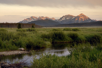 View of the Sawtooth Range in Idaho. U.S. Forest Service photo.