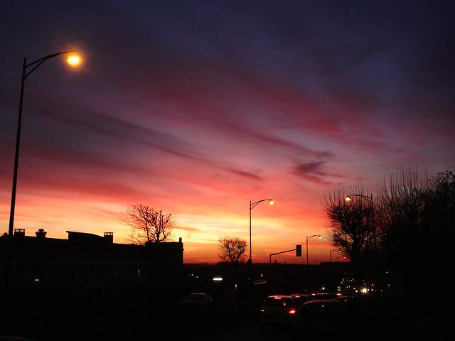 日落黄昏时