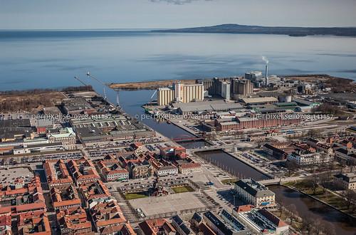 3 sverige swe lidköping västragötaland flygfoto