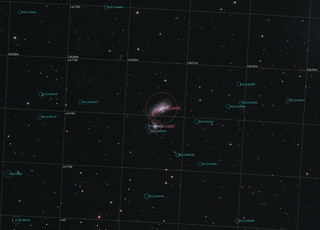 NGC4490 The Cocoon galaxy (Annotated)