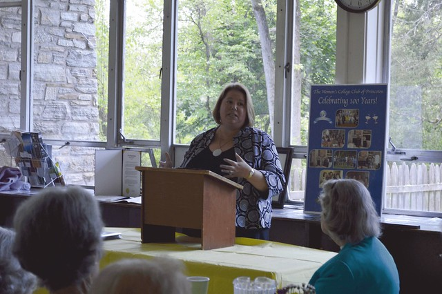 Elizabeth M. Casparian, PhD, Executive Director, HiTOPS, after the Luncheon at All Saints Church.GenMtgMay16_2016_05