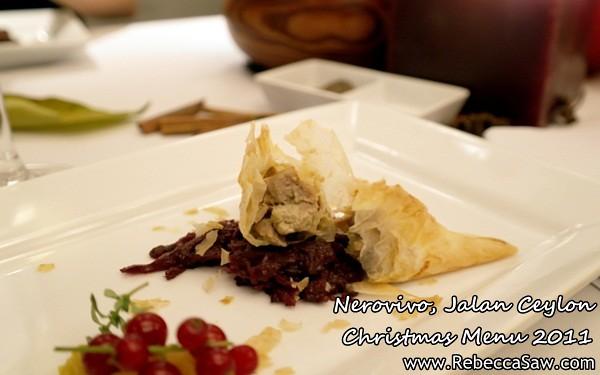 Nerovivo, Jalan Ceylon - christmas menu 2011-8