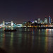 London at Night: Shard, Thames, City, Wapping by cybertect