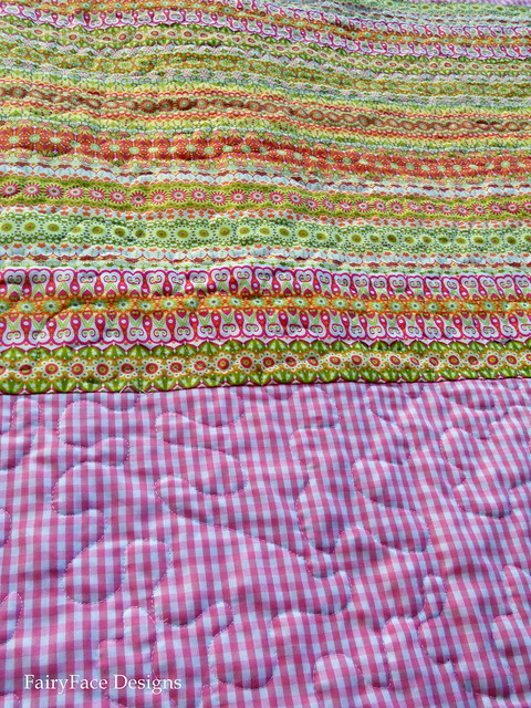 Matryoshka quilt back detail