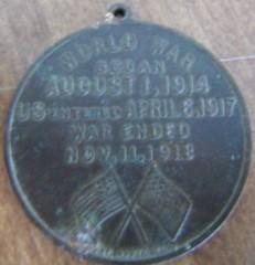 Our Colored Heroes medal Asklar specimen reverse