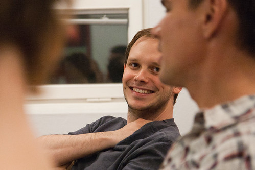 Peter Sunde at a team event