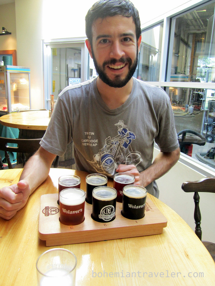 Stephen with Otter Creek Sampler