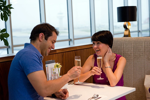 Gatwick no1 lounge romantic couple