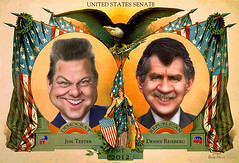Campaign Poster - Tester vs. Rehberg MT Senate 2012