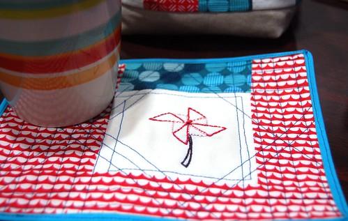 FO: Pinwheel Mug Rug