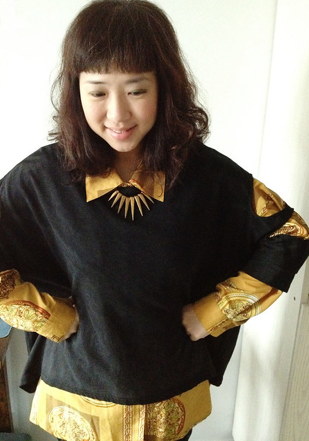 Holey Sweater & Vintage Shirt