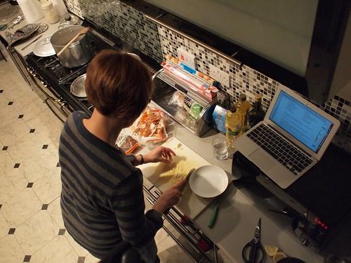 Jessica in the kitchen