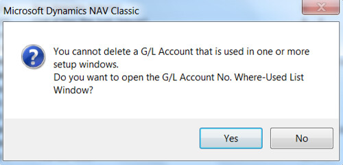 Error When Deleting GL Account