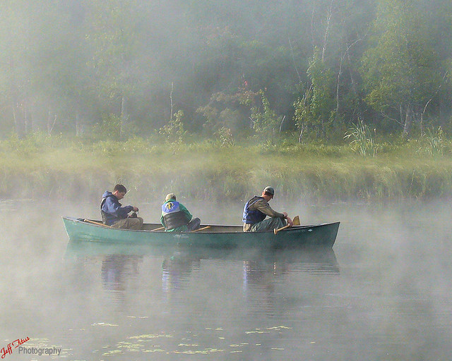 Canoeing in the Morning