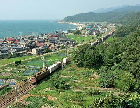 "日本海縦貫線の""花型""EF81電気機関車"