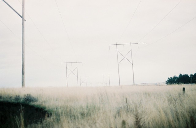 Powerlines going East