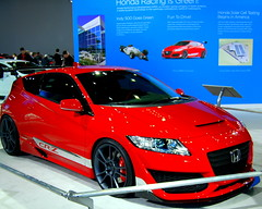 automobile, automotive exterior, wheel, vehicle, automotive design, auto show, honda, honda cr-z, bumper, land vehicle, sports car,