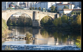 0070-PONTE ROMANO, PONTE VELLA O PUENTE MAYOR SOBRE EL RÍO MIÑO (Ourense)