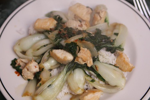 Sweet Chili Baby Bok Choi with Chicken Breast
