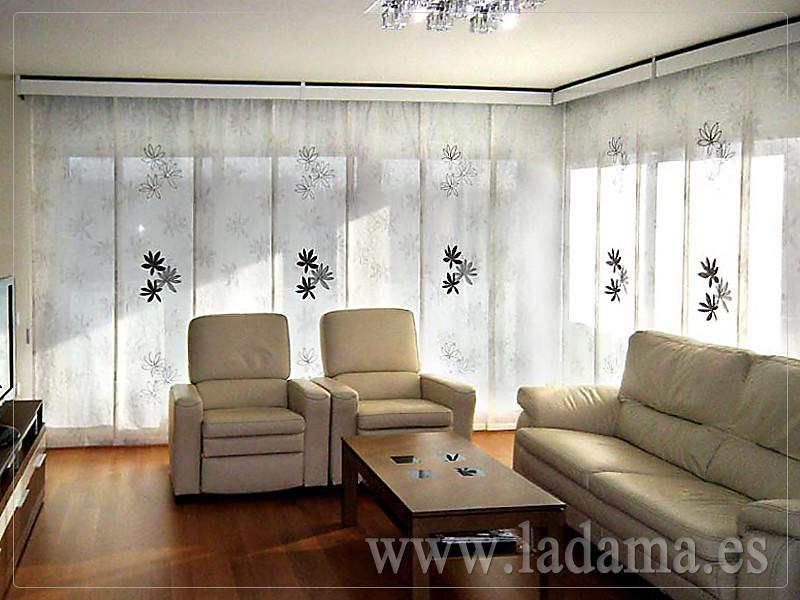 Decoraci n para salones modernos cortinas paneles for Estores de cocina modernos