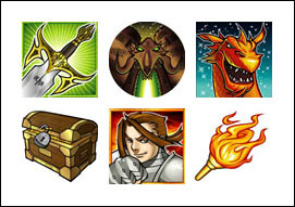 free Dragon Sword slot game symbols