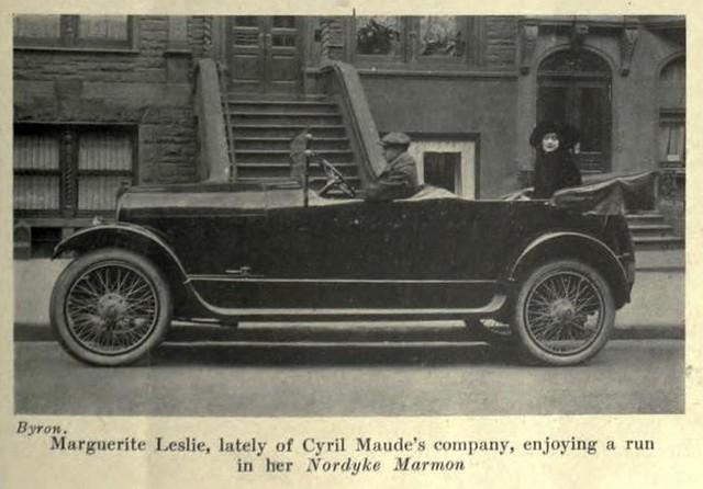 Marguerite Leslie enjoying a run in her Nordyke Marmon 1917