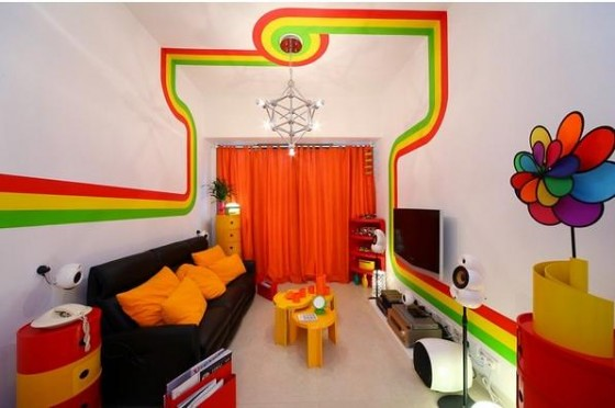 Vivid-Rainbow-Nice-Color-Scheme-within-Home-Interior-Layout-1-560x372