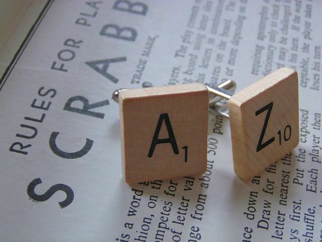 Letras del Scrabble de la A a la Z