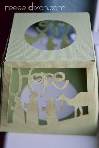 Papercut Nativity Tree Tutorial Step 5