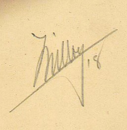 Milloy Hand Signature 1918