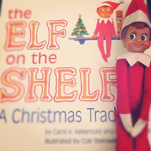 Starting a new tradition tonight. Meet Buddy the Elf. #elfontheshelf