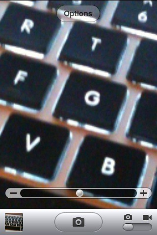 Screenshot - iPhone 5x Zoom feature activated