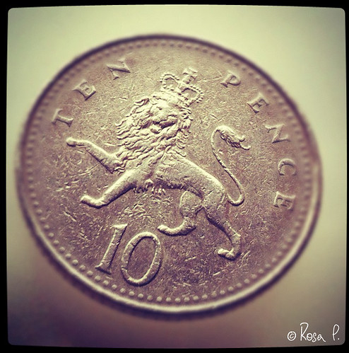 UK - 10p Coin with a lion