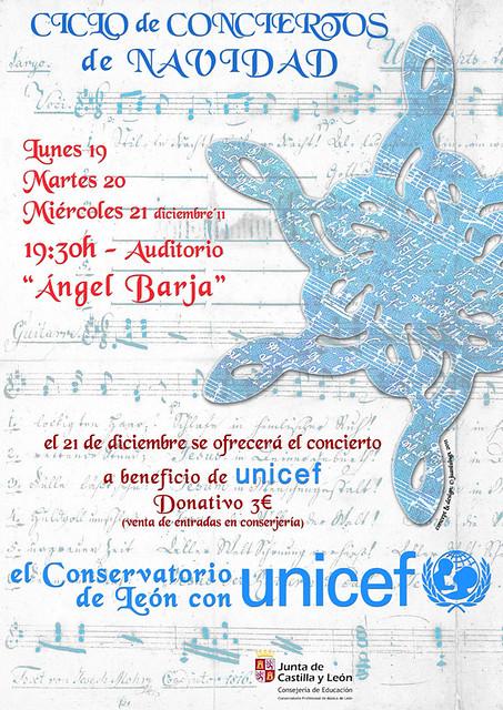 CICLO DE CONCIERTOS DE NAVIDAD - EL CONSERVATORIO DE LEÓN CON UNICEF - DICIEMBRE 2011
