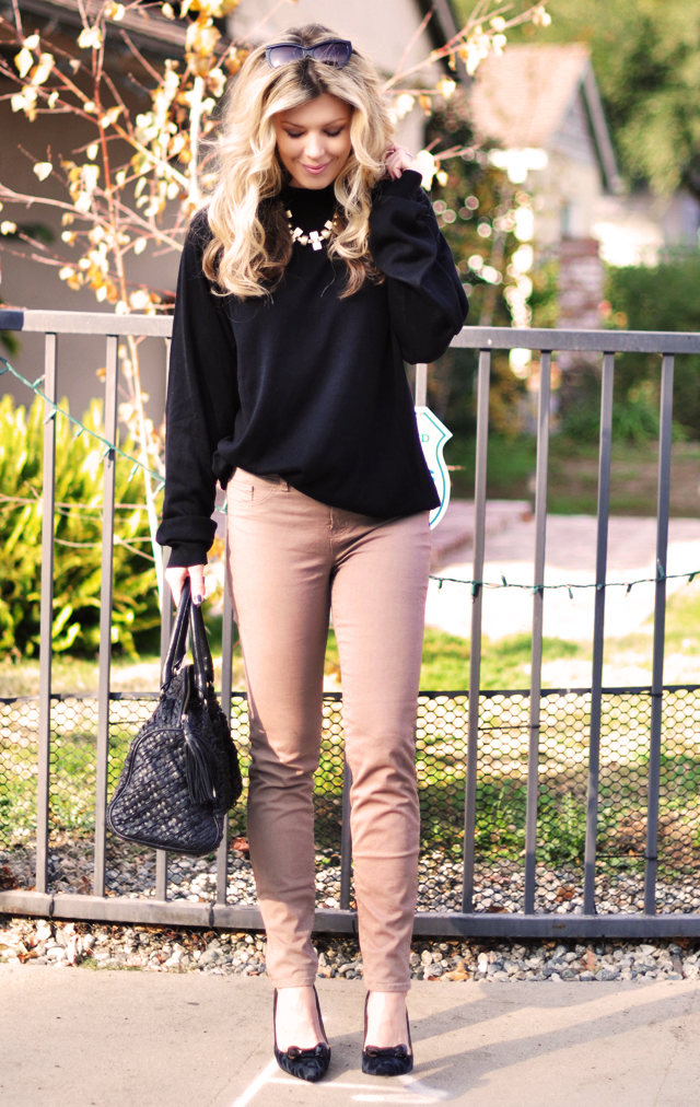 j brand jeans - kate spade shoes -jewelmint necklace