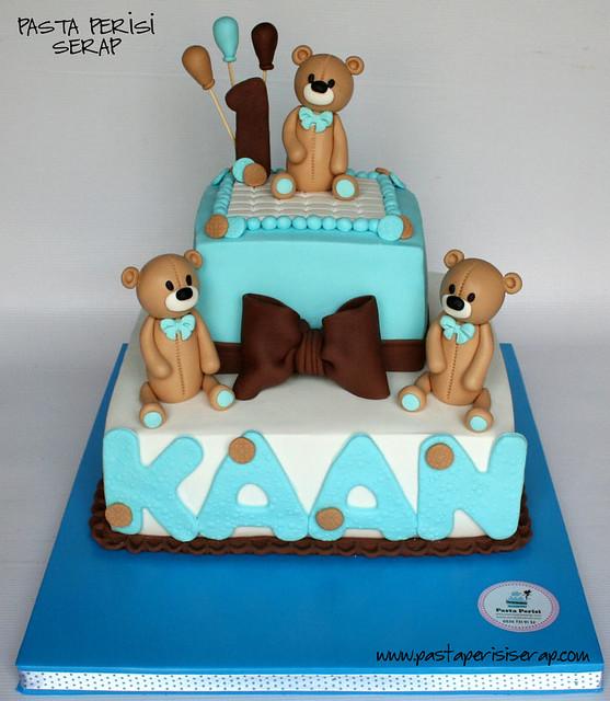 ayıcıklı 1 yaş pastası