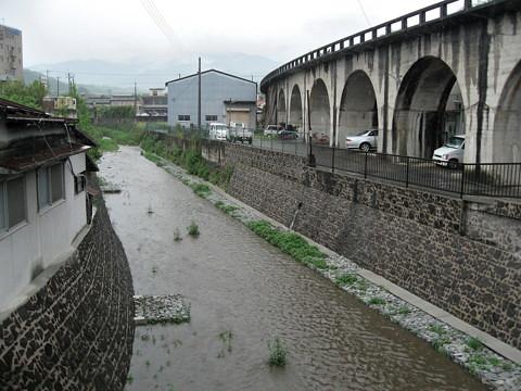 五條市に残る五新線(未成線)の橋脚が撤去?